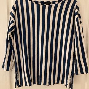 J Crew Vertical striped shirt